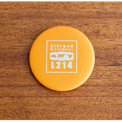 "Badge ""L214 - orange"""