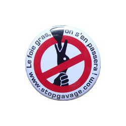 "Badge ""Stop Gavage"""
