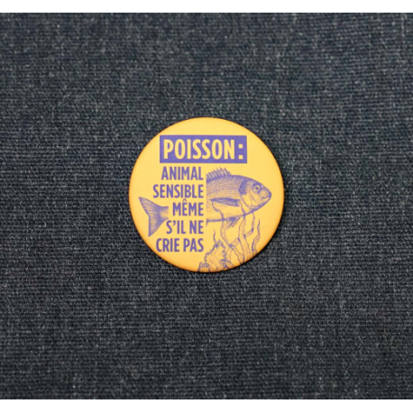 "Badge ""Poisson : animal sensible"""