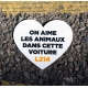 """Sticker Voiture """"On aime les animaux"""""""