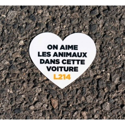 "Sticker Voiture ""On aime les animaux"""