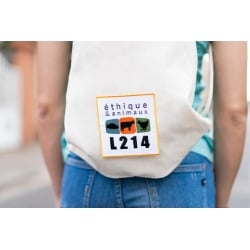 """Patch thermocollant """"logo L214"""""""