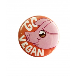 "Badge ""Go Vegan - Pig"""