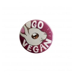 "Badge ""Go Vegan - Rabbit"""