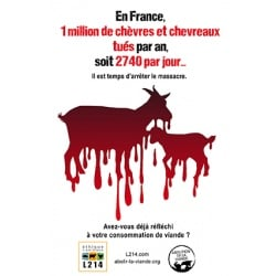 "Sticker ""En France 1 million de chèvres et chevreaux tués par an"""