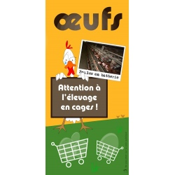 Œufs : attention à l'élevage en cages
