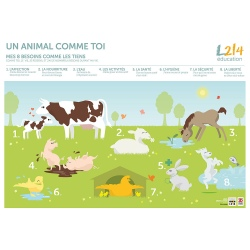 "Poster ""Un animal comme toi"""